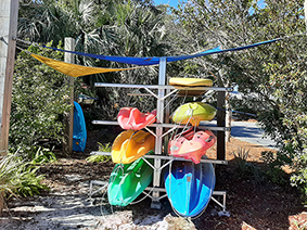 Water fun at our recreational vehicle resort - paddle boards and kayaks